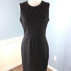 Ann Taylor LOFT M 8 Black Ponte Knit Sheath dress